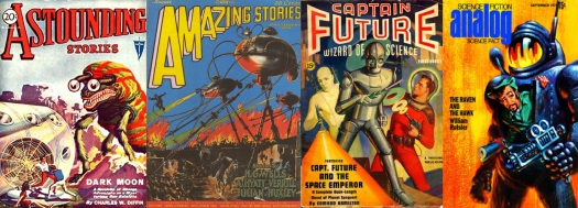 science-fiction magazine cover art