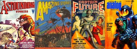 science-fiction magazine cover art