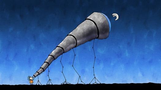 Telescope cartoon